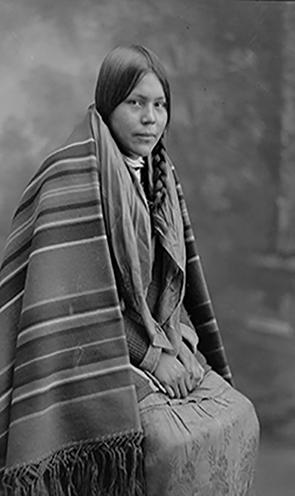 About Page, Maskwacis Archives, Girl Sitting